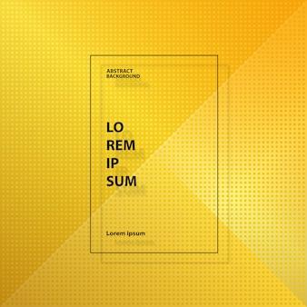 Abstrait moderne or jaune motif géométrique carré.