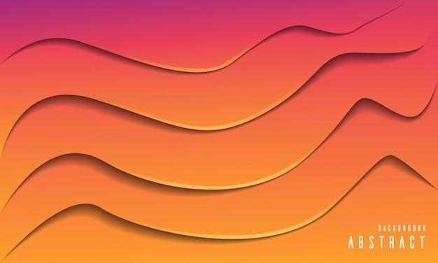 Abstrait moderne orange papier coupé fond