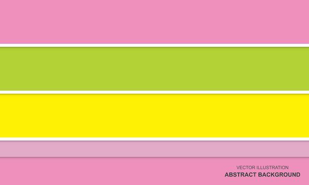 Abstrait moderne rose couleur vert et jaune