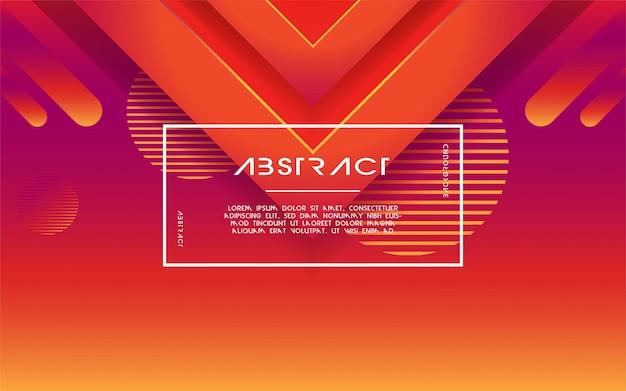 Abstrait moderne triangle dégradé 3d