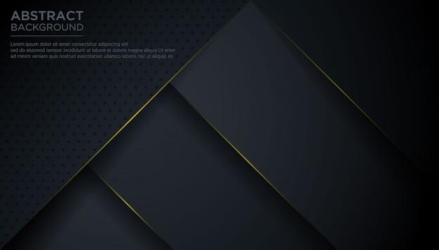 Abstrait moderne triangle noir