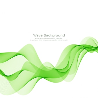 Abstrait moderne vague verte