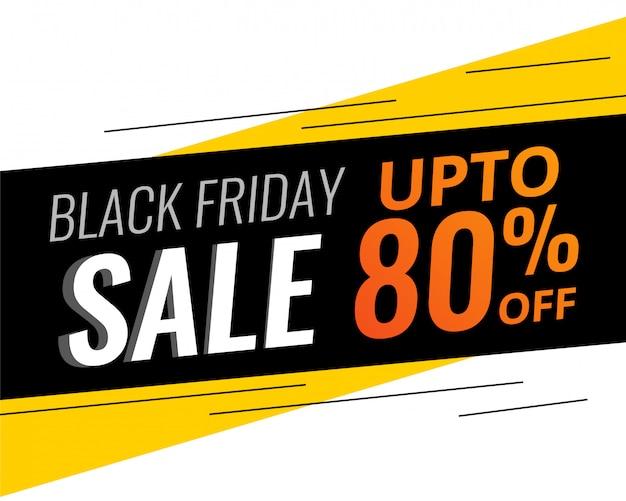 Abstrait moderne vendredi noir discount et vente bannner