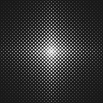 Abstrait monochrome carré arrondi - illustration vectorielle de carrés diagonaux de différentes tailles
