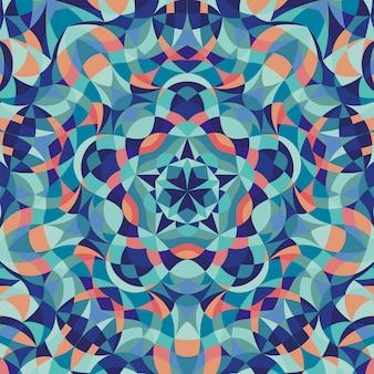 Abstrait avec motif coloré géométrique kaléidoscope
