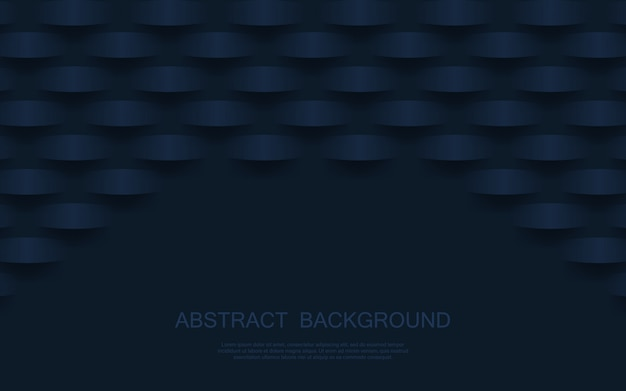 Abstrait motif géométrique 3d luxe bleu foncé. illustration vecteur
