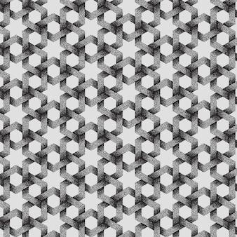 Abstrait motif géométrique en pointillé.