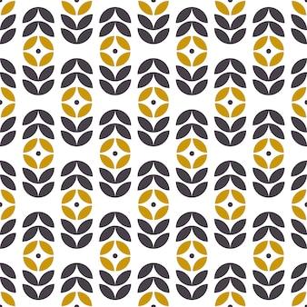 Abstrait motif géométrique sans couture dans un style scandinave. motif floral rétro. fond d'écran de vecteur