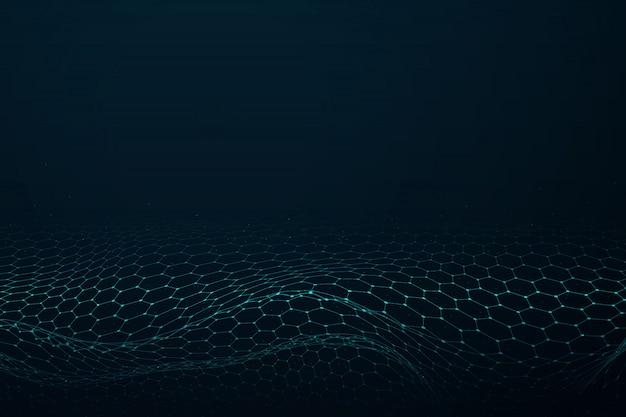 Abstrait motif hexagonal design de technologie fond d'œuvres d'art futuriste.