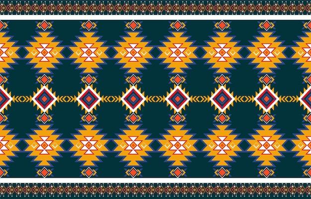 Abstrait motif natif géométrique orange et rouge sans soudure.fond géométrique répétitif