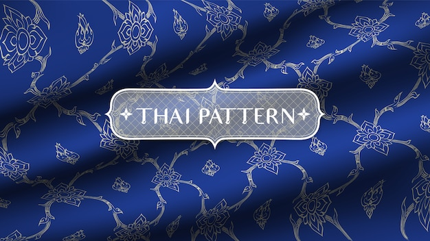 Abstrait motif thaï traditionnel