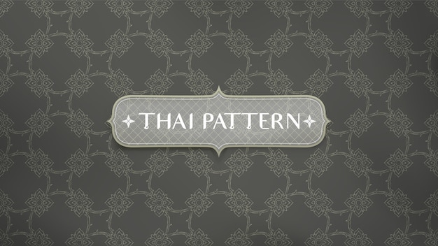 Abstrait motif traditionnel thaïlandais.