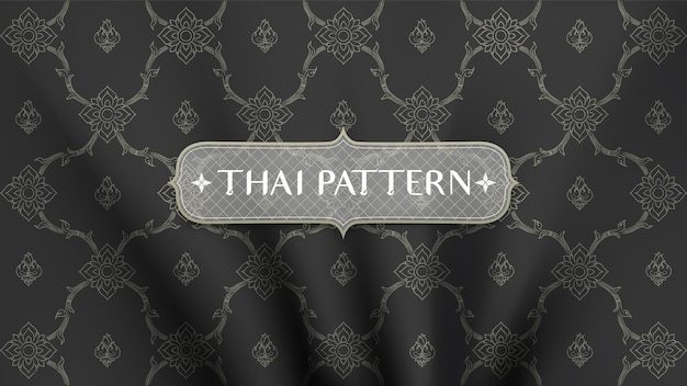 Abstrait motif traditionnel thaïlandais.