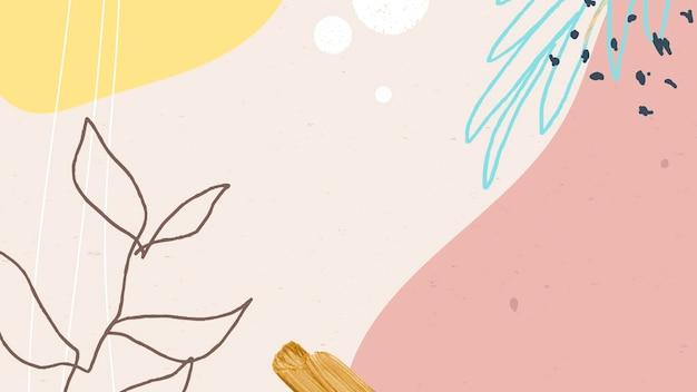 Abstrait à motifs pastel memphis