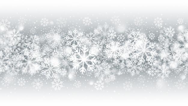Abstrait mouvement flou chute de neige effet blizzard