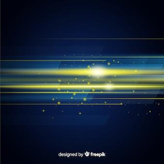 Abstrait avec mouvement de lumière horizontale