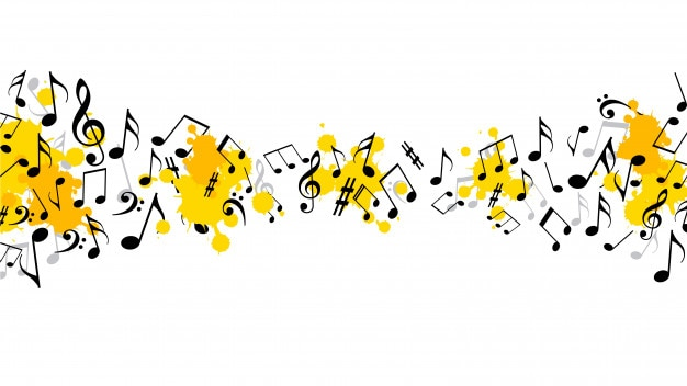 Abstrait musical avec des notes