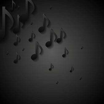 Abstrait de la musique noire. modèle d'illustration vectorielle