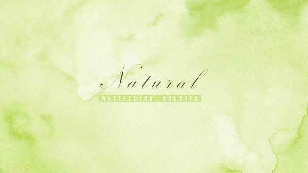 Abstrait naturel conçu avec des taches d'aquarelle vertes.