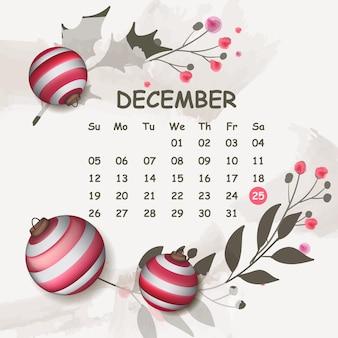 Abstrait de noël avec calendrier des événements