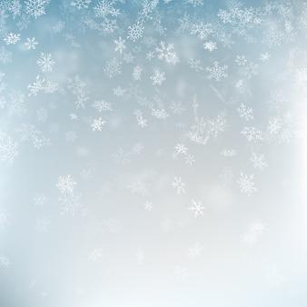 Abstrait de noël avec des flocons de neige.