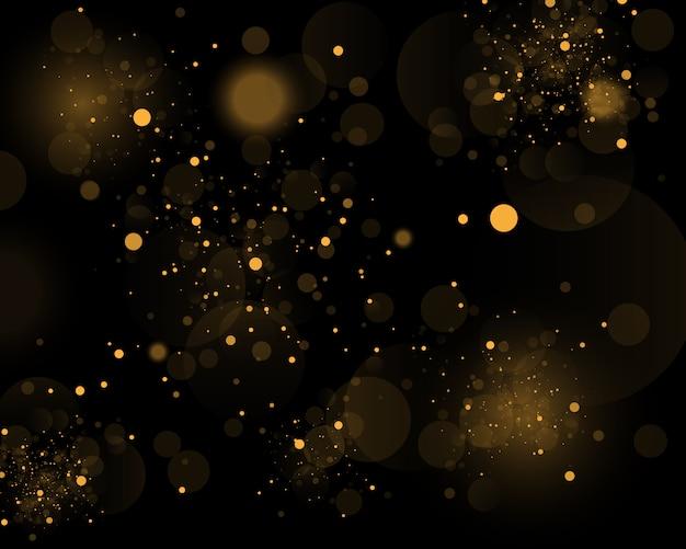 Abstrait noir et blanc ou argent, paillettes d'or et élégant pour noël