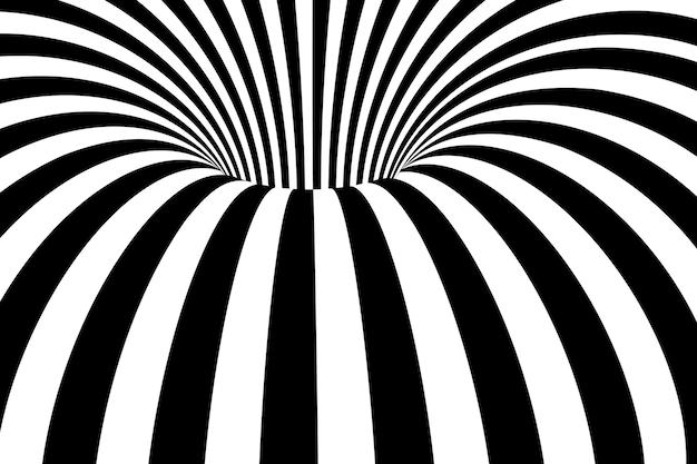 Abstrait noir et blanc rayures ondulées.