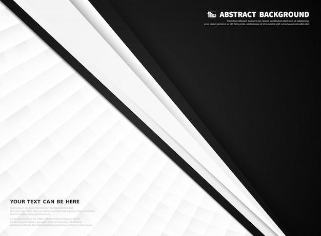Abstrait noir et blanc technologie entreprise.