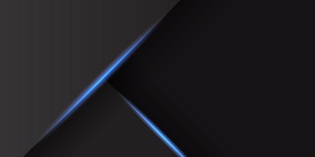 Abstrait noir avec décoration de lumière bleue brillante