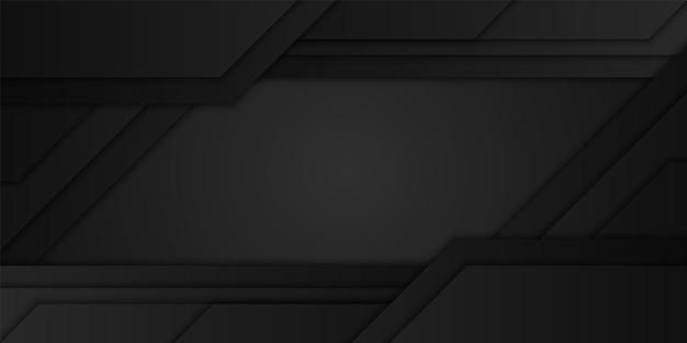 Abstrait noir diagonale chevauchement couche fond illustration géométrique design minimal sombre