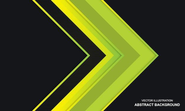 Abstrait noir dop et design moderne de couleur jaune vert