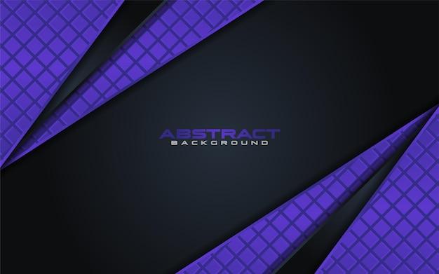 Abstrait noir avec élément violet avec chevauchement texturé