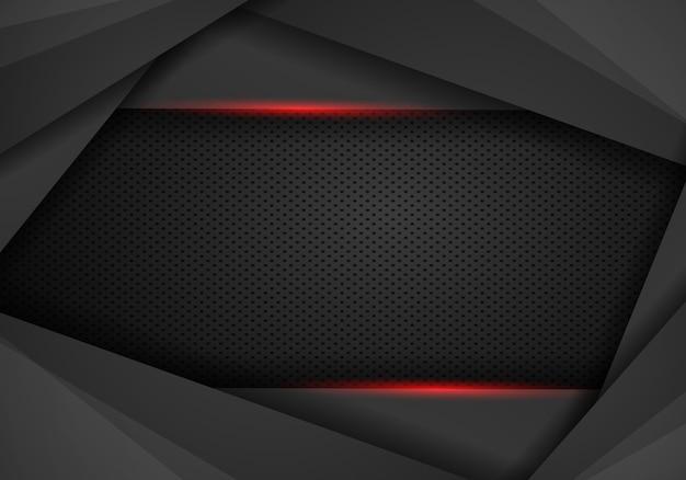 Abstrait noir avec fond de cadre rouge