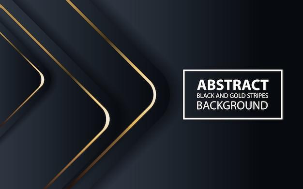 Abstrait noir avec des lignes dorées