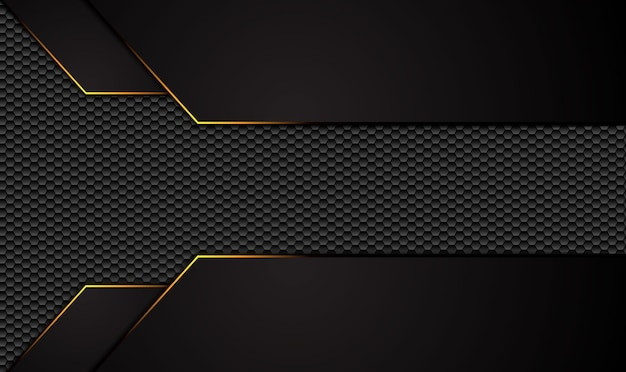 Abstrait noir métallique avec rayures contrastées.