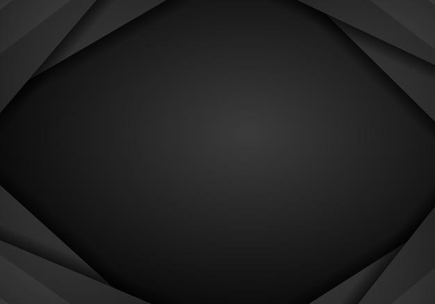Abstrait noir avec un modèle de mise en page de cadre sombre