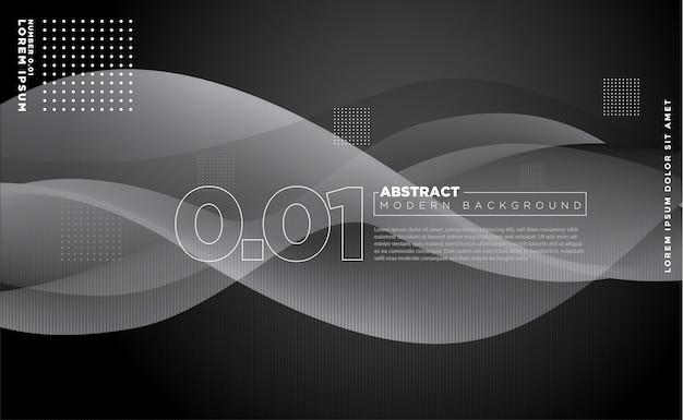 Abstrait noir moderne ondulé