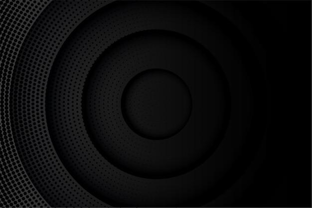 Abstrait noir avec motif de demi-teintes et cercles