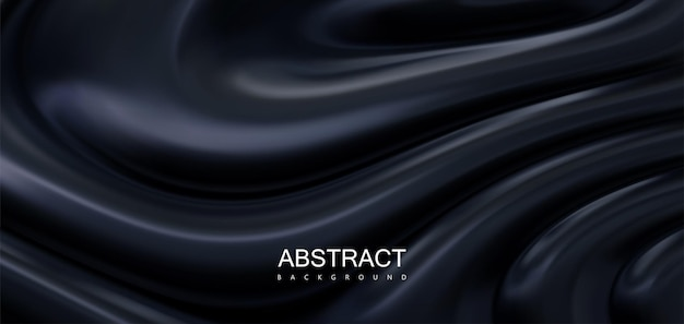 Abstrait noir avec des ondulations ondulées