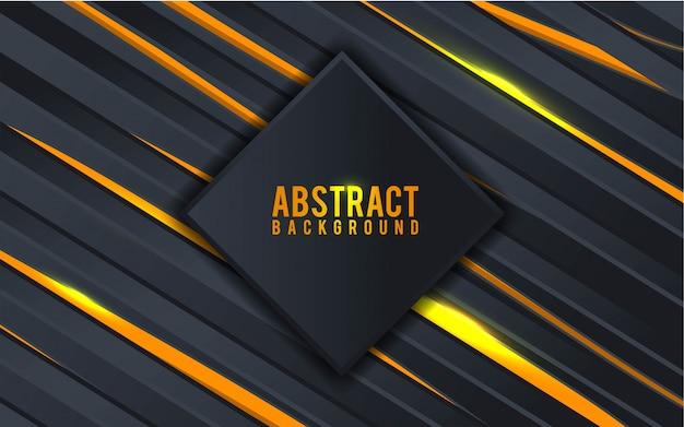 Abstrait noir et or - vecteur