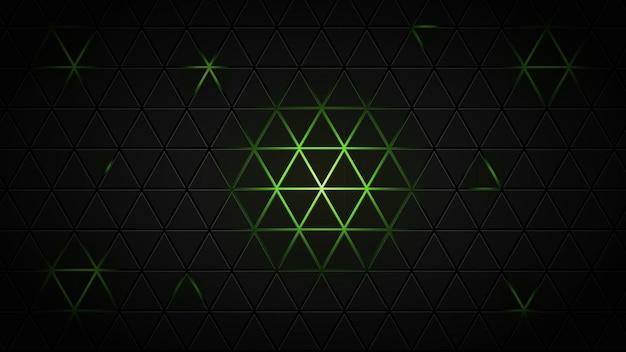 Abstrait noir et vert