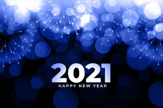Abstrait nouvel an avec feux d'artifice