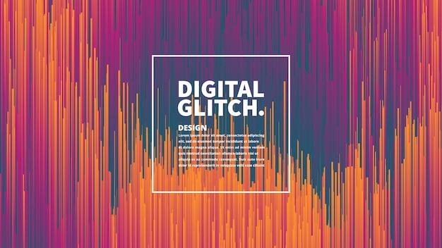 Abstrait numérique effet glitch vecteur