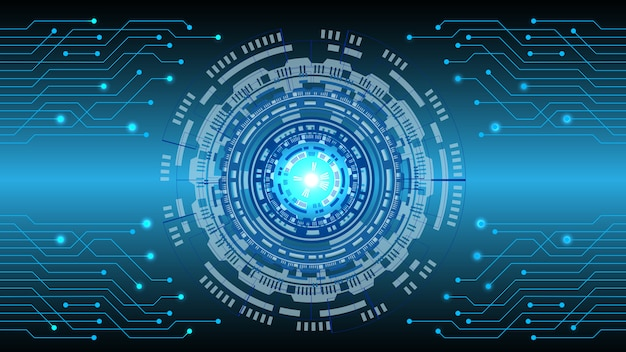 Abstrait numérique de technologie
