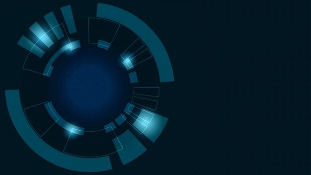Abstrait numérique. transformation de la croissance des entreprises en technologie financière numérique et réussie.