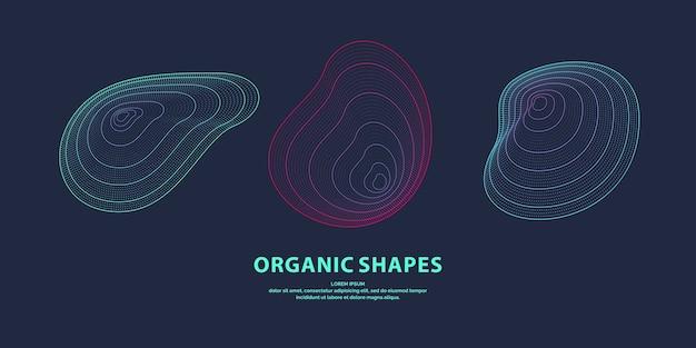 Abstrait avec des ondes linéaires dynamiques. illustration dans un style minimaliste