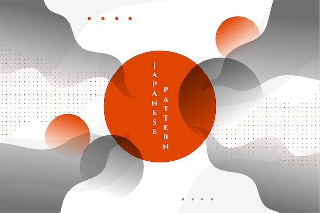Abstrait ondulé japonais élégant