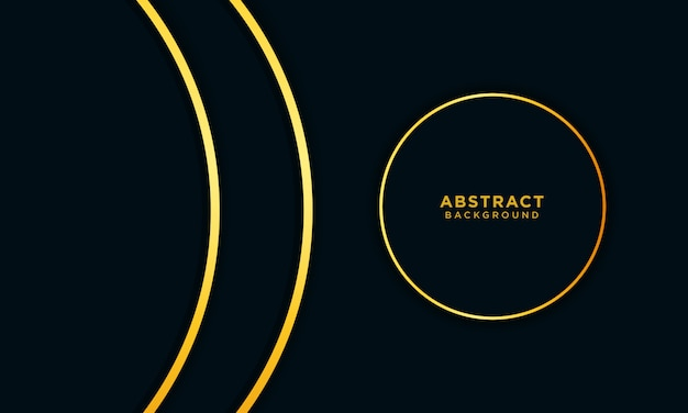 Abstrait or bleu foncé avec cercle et paillettes