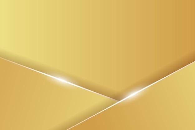 Abstrait or avec des lignes et illustration d'effet de brillance
