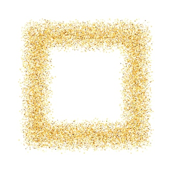 Abstrait, or, sable, poussière, paillettes, cadre, carré